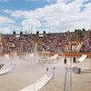 Gladiators amphitheater 'spectacle' featuring Roman persecution of Christians (who win in the end).