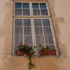 Windowbox: In the old town of Avallon, Burgundy, which was built in the 16th & 17th centuries