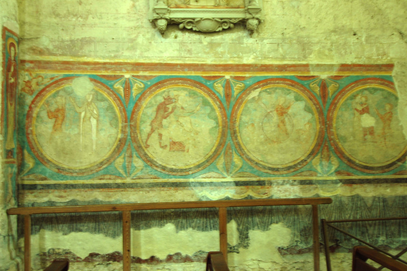 An old fresco. I must have missed the Bible story about the dog that walks like a human.