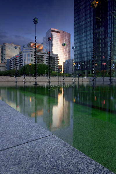 Reflection at La Defense, Paris France