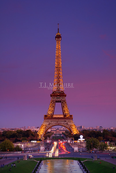 Eiffle Tower at Sunset