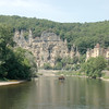 This is the Vezere River, which flows past the town of Les Eyzies de Tayac.