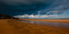 Utah Beach under darkened skies. The weather was consistently and beautifully variable!