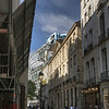 Approaching the Centre Georges Pompidou from Le Marais
