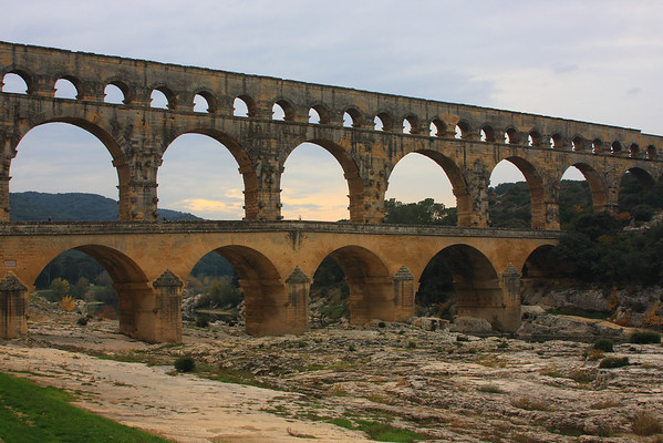 Pont du Gard - Roman Aqueduct 40 AD