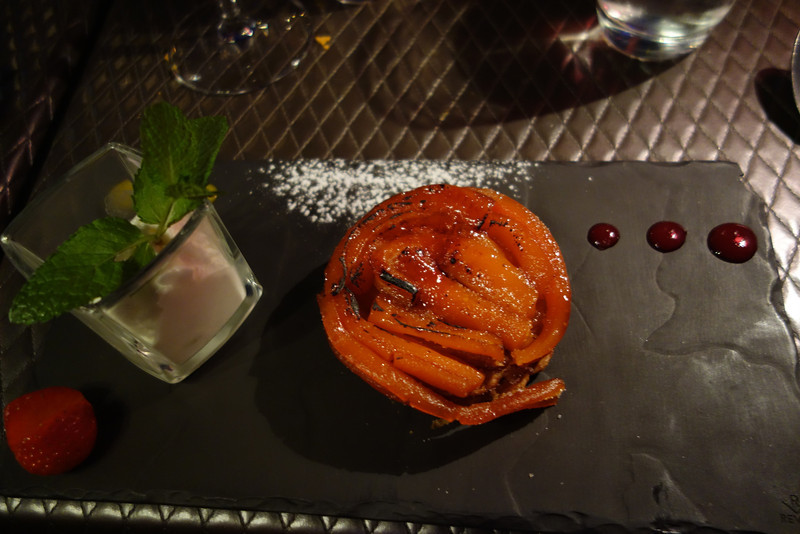 Desert was a carrot thing that was delicious.