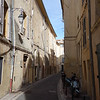 The streets of Aix-en-Provence by daylight.  They are all narrow like this.