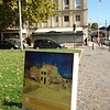 Now on day 6 we rode to the town of Arles.  This is where Vincent Van Gogh lived.  Here is a reproduction of a painting he made of his house and the building behind it.  Now only the building behind remains (the building in the picture).