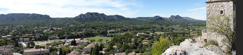 The panoramic view from our lunch spot.