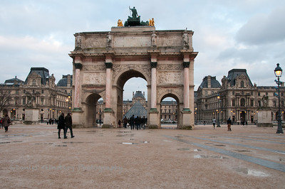 Arc du Carrousel next to the the Louvre Pyramid.