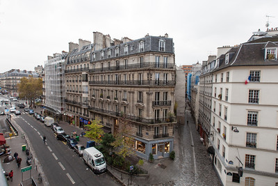 The view from the living room in Haven in Paris.