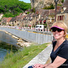 Kris along the Dordogne River and the main drag in La Roque-Gageac.