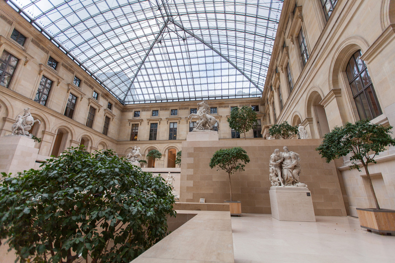 Sculpture garden at the Louvre.