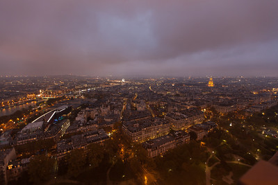 Some views from the Eiffel Tower - it was raining, very cold, and very windy, so I didn't stick around for many shots.