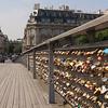 Funny locks on the bridge near Notre Dame.