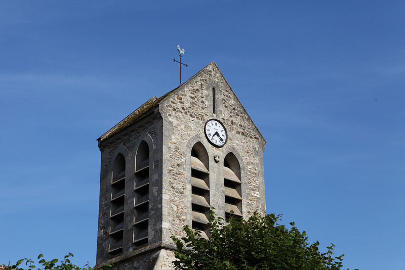 A clock tower from a small village in Champagne