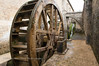 Paddle wheel at Abbey of Fontenay (Abbaye de Fontenay).