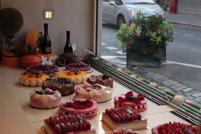 The window of patisserie in France- unresistible!