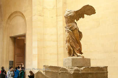 Winged Victory of Samothrace, Greek statue in the Louvre Museum.