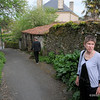 on a walk along one of Vouvant's small, twisting lanes.