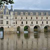 Chateau de Chenonceau spans the River Cher.  As originally designed for Diane de Poitiers by Philibert de l'Orme in 1556-59, there was only a bridge over the river.