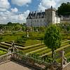 Chateau de Villandry overlooks the restored formal ornamental kitchen garden.