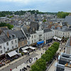 Looking down on the old town of Amboise from atop the walls of the chateau.
