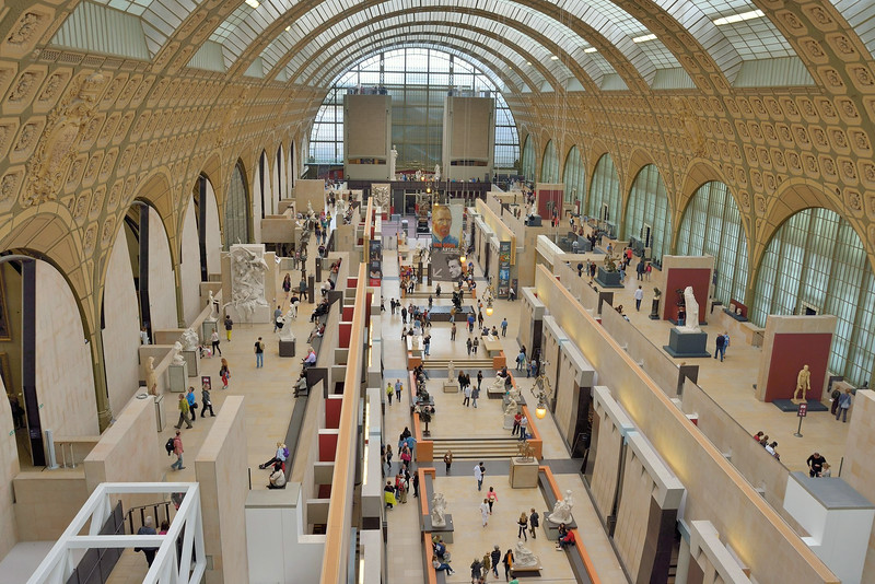 Musee d'Orsay - renovated hotel and railway station now  devoted to art and applied arts of 1848 to 1914.<br /> The Impressionist collection is especially renown.