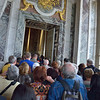 Crush of tourists leaving the Hall of Mirrors to enter the Queen's quarters, Palace of Versailles.