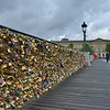 """Love locks"" on the  Pont des Arts footbridge in central Paris.<br /> June 4, 2014"