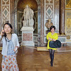 What is most important to view? Tourists photographing themselves in the Palace of Versailles.