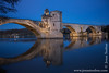 Pont Saint-Bénézet and Rhône River in the Early Morning Hours