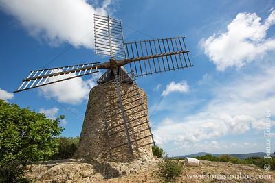 Provence-Alpes-Côte d'Azur. Massif des Maures. Grimaud. Moulin Saint Roch