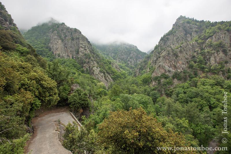 View From Road to Abbaye Saint-Martin du Canigou