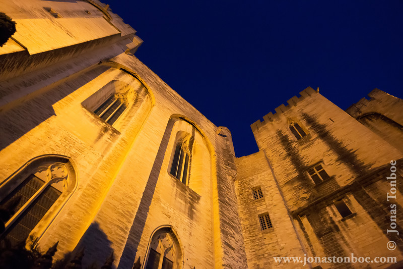 Palais des Papes in the Early Morning Hours