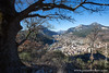 View of Castellane From Half Way up the Le Roc