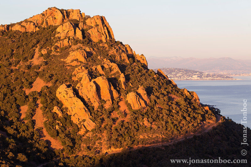 View from Le Pic du Cap Roux - Sunset
