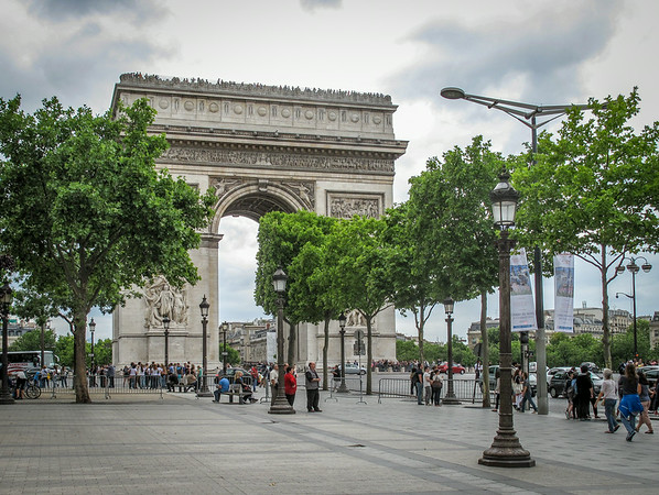 A walk up the Champs Elysees to the Arc de Triomphe was a good introduction to Paris and the beginning of many kilometers of walking