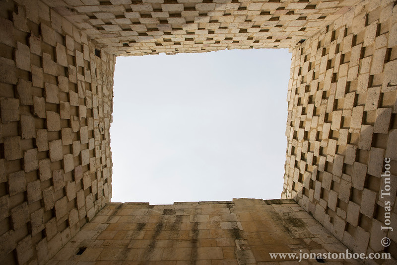 View Up Through Medieval Tower