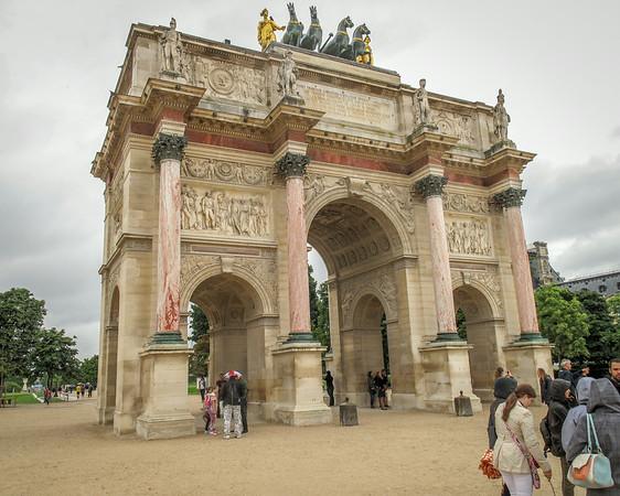Napoleon's Arc in Tuileries Garden