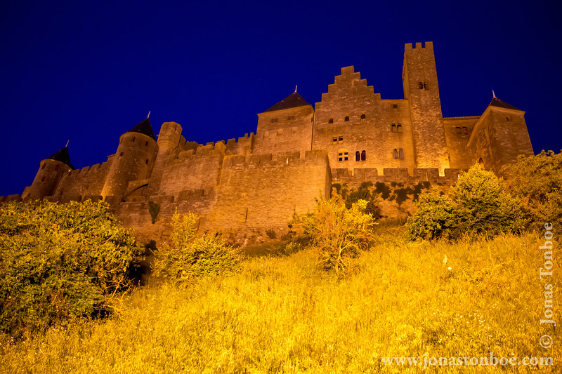 Cité de Carcassonne Citadel By Night