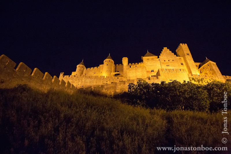 Cité de Carcassonne Citadel By Night