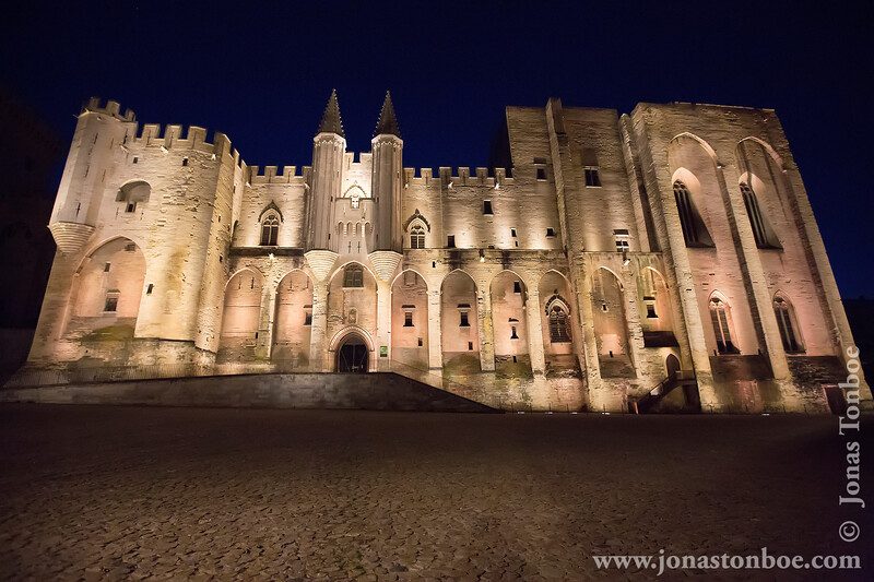 Palais des Papes and Place du Palais in the Early Morning Hours