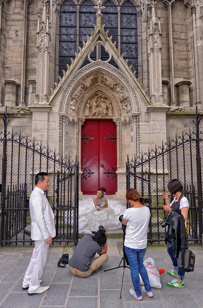 Japanese wedding shoot at Notre Dame