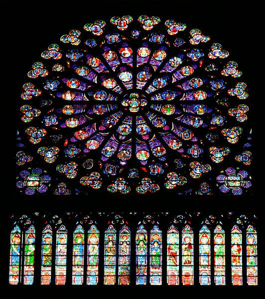 Rose window at Notre Dame