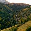 Rif Garcin waterfall from the La Grenoniere climb.