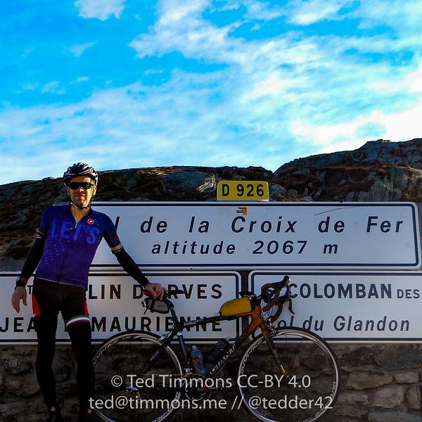 On top of Croix de Fer.