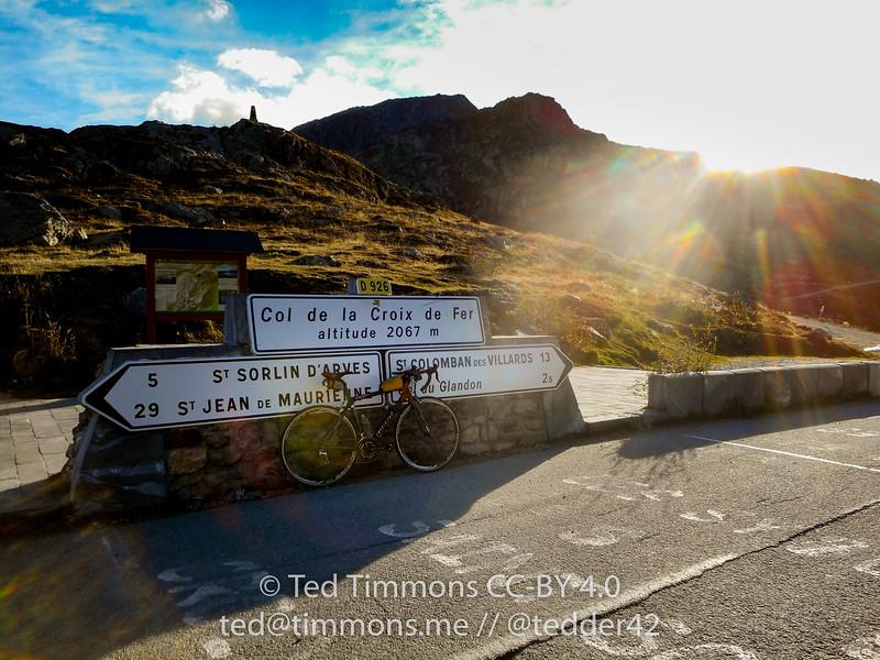 Bike selfie at Croix de Fer!