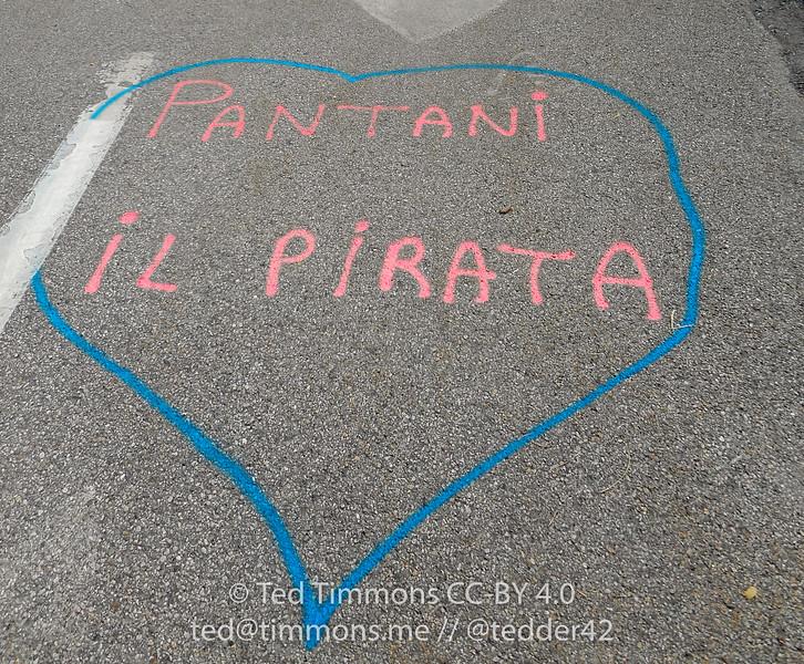 Love for Marco Pantani at Turn 2.