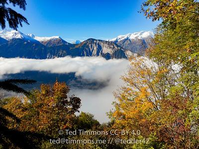 Foggy view off Alpe d'Huez.